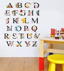 Animal Wall Decals For Nursery Childrens Abc Alphabet Animals Wall Decal Nursery Playroom