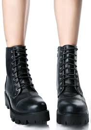 american biker boots faux leather lace up biker boots dolls kill