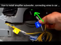 how to install amplifier subwoofer connecting wires to car stereo