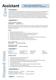 caregiver professional resume templates care assistant cv