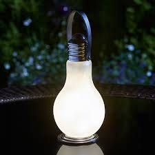 eureka frosted battery operated light bulb ornamental garden