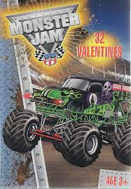 monster jam truck amazon com monster jam trucks valentine cards 32 count office