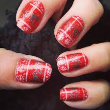 christmas nails with moyou nail plates u2013 painted nails u0026 baking scales