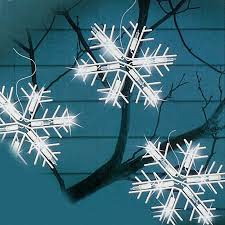 Outdoor Snowflake Lights Shop Northlight 100 Count 8 6 Ft Twinkling Clear White Snowflake
