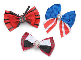 hair bow tie marvel hair bow thinkgeek