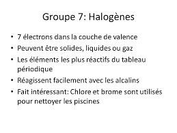 les halogenes le tableau périodique ppt télécharger