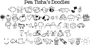 free doodle name pea tisha s doodles