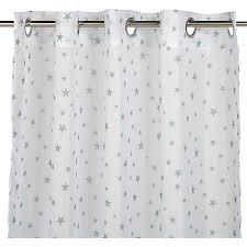 voilage pour chambre bébé voilage blanc motifs étoiles bleues 140x240cm pour enfant starry