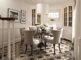 elegant carpet for formal dining room ideas with large round table
