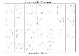 tracing the alphabet worksheets for kindergarten tracing letter