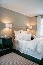 brass headboard bedroom traditional with bedside table glass lamps