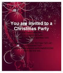 christmas party invitation template free cimvitation