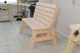 How To Make A Picnic Table Out Of 1 Sheet Of Plywood by How To Build A Comfortable 2 4 Bench And Side Table Jays Custom