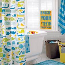 Fish Bathroom Accessories Kids Bathroom Kids Whales Shower Curtain And Bath Storage Shower