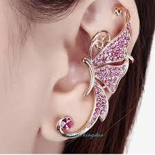one sided earrings one new fashion women s butterfly stud earrings jackets