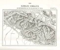 Himilayas Map Geography Of Himalayas Charts From 1907 Mcadd Pahar