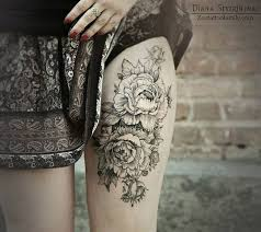 flower tattoos black stylish ink tattoomagz