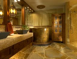 modern luxury master bathroom designs with white cabinet and