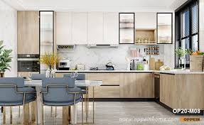 wood grain kitchen cabinet doors l shaped melamine wood grain kitchen cabinet op20 m08