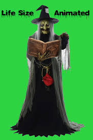 life size animated wicked spell speaking witch halloween prop