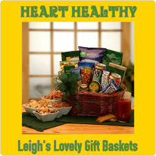 heart healthy gift baskets leigh s sensational snacking shoppe leigh s lovely gift baskets