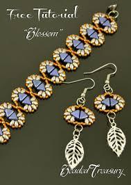 blossom bracelet and earrings free beading tutorial for the