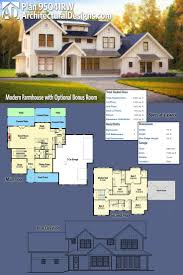 One Story Floor Plans With Bonus Room by Best 25 Modern Farmhouse Plans Ideas On Pinterest Farmhouse