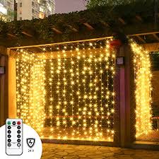 Low Voltage Indoor Lighting Led Curtain Lights With Remote Twinkle Star 300 Leds Window