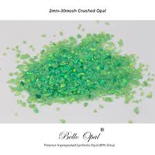 green opal bello opal lab grown synthetic opal 2mm 160 mesh crushed opal