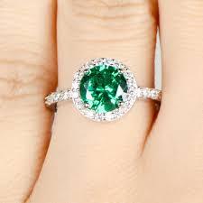 ring with birthstones may imitation birthstone ring green cz