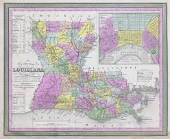 Map States Usa by Large Detailed Old Administrative Map Of Louisiana State 1850
