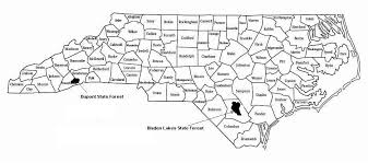 state forests in carolina
