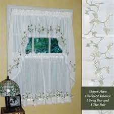 Ladybug Kitchen Curtains by Kitchen Curtains Tiers And Valance Window Treatments Touch Of Class