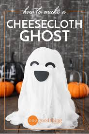 halloween ghost crafts how to make a spooky floating cheesecloth ghost one good thing