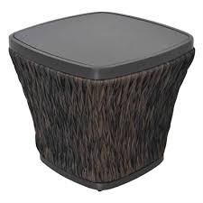 lowes patio side table allen roth ellisview woven 22 in square patio side table lowe s