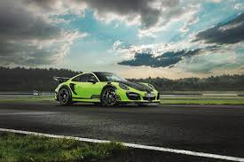 green porsche 911 techart unveils a green beast the porsche 911 turbo gtstreet r