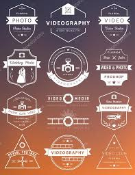 Photography And Videography Vector Set Of Badges Photography And Videography U2014 Stock Vector