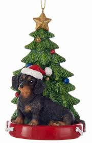 dachshund tree ornament