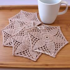 crochet coaster pattern mosaic flower coasters diy crochet crafts