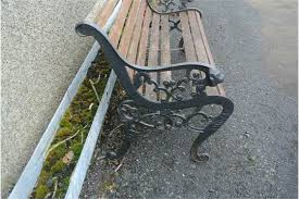 Cast Bench Ends Garden Furniture A Garden Bench With Lion Head Cast Iron Ends