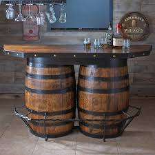 whiskey barrel table for sale tennessee whiskey barrel bar wine enthusiast