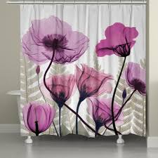 Pink Flower Curtains Shower Curtains