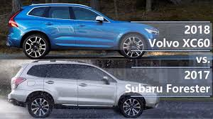 subaru forester 2018 colors 2018 volvo xc60 vs 2017 subaru forester technical comparison