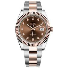 rolex steel oyster bracelet images Rolex datejust ii steel and rose gold chocolate diamond dial 41mm jpg