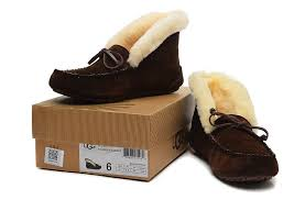 ugg moccasins on sale womens ugg australia 10004806 alena moccasin slippers chocolate