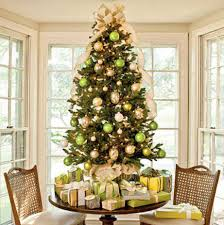 interior design of home gold tabletop trees rustic