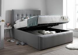 Grey Upholstered Ottoman Bed Pimlico Upholstered Ottoman Bed Frame Only Storage Beds Beds