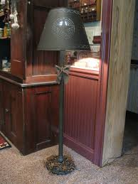 grubby primitive floor lamp with tin shade https www facebook