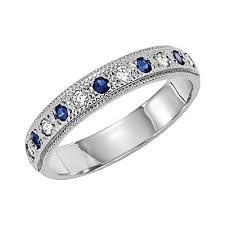 Diamond Sapphire Wedding Ring by Wedding Bands Quality Gem Diamonds And Jewelry