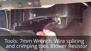 how to install a gmc sierra blower motor resistor and wiring